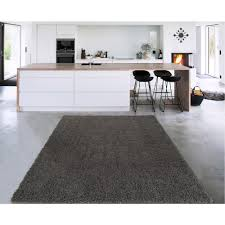 Charcoal Gray Area Rug Sweet Home Stores Cozy Shag Collection Charcoal Grey 7 Ft 10 In