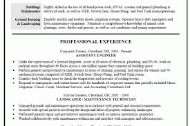 Example Resume For Maintenance Technician by Resume Maintenance Worker Job Description Reentrycorps