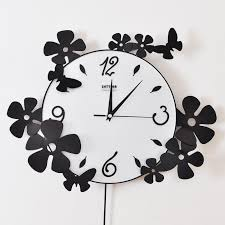 themed wall clock wall ideas design monochrome black white colors clocks wall
