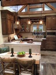 Rustic Kitchen Pendant Lights by Refacing Rustic Kitchen Las Vegas With Industrial Pendant Light