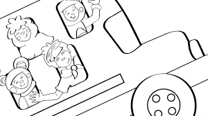 the wheels on the bus coloring page mother goose club mother