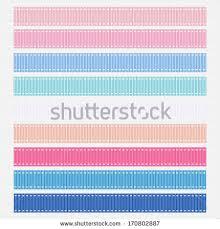 grosgrain ribbons illustration pastel pink blue grosgrain ribbons stock illustration