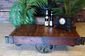 railroad cart coffee table etsy living room ideas pinterest