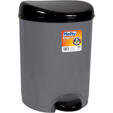 rubbermaid linerlock spring top trash can 13 gal cashmere