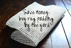 his and hers save money make your own rug pad