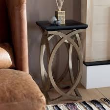felix wooden sofa side table tall oka