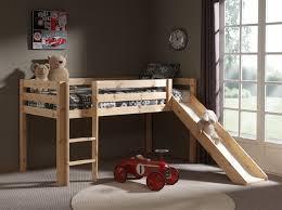 chambre enfant toboggan lit enfant mezzanine bois massif toboggan naturel 90x200 terre