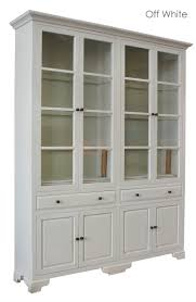 french provincial classic display cabinet with tempered glass in