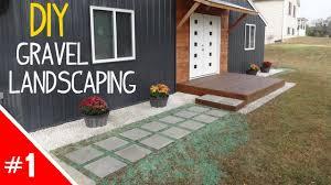 diy clean u0027n simple gravel landscaping part 1 of 2 youtube