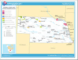 Nebraska On A Map Map Of Nebraska Federal Lands And Indian Reservations