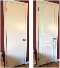 wood paneling makeover i have the same boring doors thank you for the brilliant idea