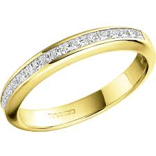 gold eternity ring princess cut diamond eternity ring in 18ct yellow gold pd217y