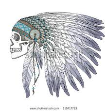 indian chief dress chief headdress for t shirt graphic