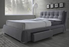 Grey King Size Bed Frame Fenbrook Grey California King Size Bed With Storage 300523kw