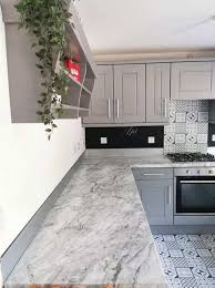 can you paint b q kitchen cabinets gives bland wooden kitchen a modern makeover for