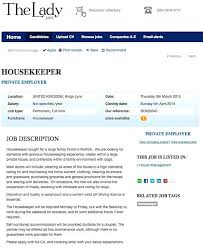 hiring a housekeeper how to get a housekeeping job the advert posted in the lady