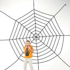 amazon com jumbo 11ft plus halloween creepy spider web toys u0026 games