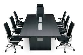 modern boardroom table furniture glass conference table with business chairs 3d render