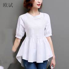 womens cotton blouses ruffles cotton blouses cotton peplum tops peplum