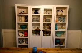 our new china cabinet set up ikea hemnes glass door cabinet