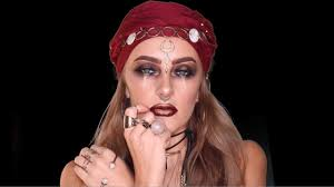 gypsy fortune teller halloween makeup tutorial day 26 of 31