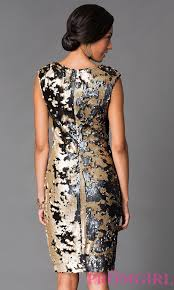 knee length sequin holiday party dress promgirl