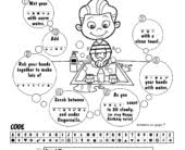 Hand Washing Coloring Sheet - coloring pages free coloring pages of how to wash your hands hand