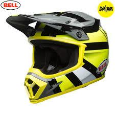 bell motocross helmets uk 2018 bell mx 9 mips helmet marauder hi viz yellow black