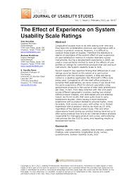 the effect of experience on system usability scale ratings pdf