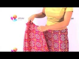 How To Drape A Gujarati Style Saree How To Wear Gujarati Style Saree In The Diy Way Youtube
