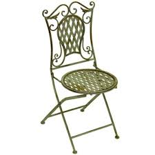chaises en fer forg chaise en fer forgé vert antique mobilier et décoration de jardin