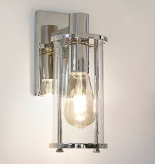 yeon single sconce polished nickel bathrooms and lights