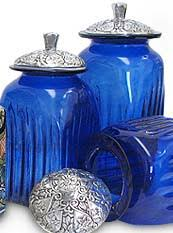 large kitchen canisters kitchen canisters talavera blown glass canisters