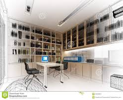 sketch design of study room stock illustration image 67820977