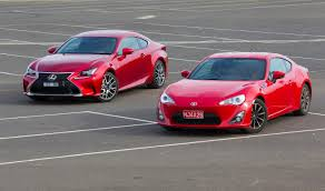 toyota lexus sports car which to choose toyota 86 vs lexus rc350 practical motoring