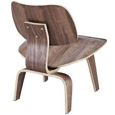 Manhattan Home Design Eames Review Amazon Com Modway Fathom Plywood Lounge Chair In Walnut Kitchen