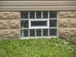 glass block basement window with an air vent u2014 new basement and
