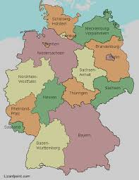 geographical map of germany test your geography knowledge germany states lizard point