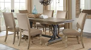 7 Pc Dining Room Sets Vista Driftwood 7 Pc Rectangle Dining Set Dining Room
