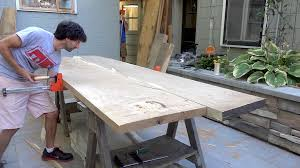 table top glue up farmhouse table benches the wood whisperer guild