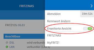http fritz box benutzeroberfl che erweiterte ansicht der benutzeroberfläche aktivieren fritz box
