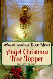 how to make an angel christmas tree topper peace of my day