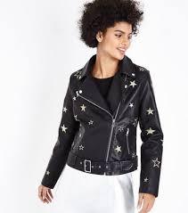 women u0027s faux leather jackets leather look biker jackets new look