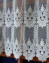 classic macrame lace cafe and valance curtain