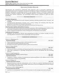 Resume Template For Restaurant Download Restaurant General Manager Resume Haadyaooverbayresort Com