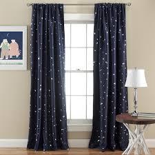 amazon com lush decor star room darkening window panel 52 by 84