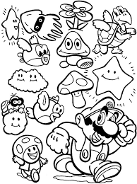 supermario coloring pages super mario brothers all characters