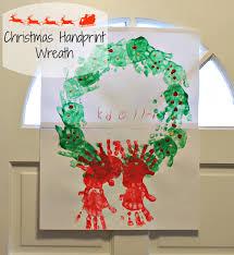 Christmas Handprint Wreath Craft
