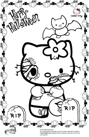 Halloween Kitty by Halloween Hello Kitty Coloring Pages To Print 8616