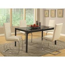 Silver Dining Room Set by Silver Leather Dining Chair Steal A Sofa Furniture Outlet Los